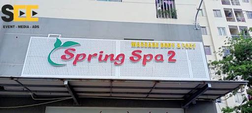 Thi công bảng hiệu cho spring spa 2
