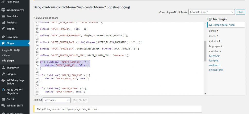 sửa lỗi load form contact 7