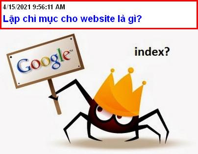 Lập chỉ mục cho website là gì?