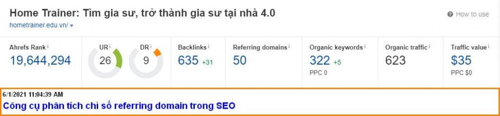 công cụ phân tích referring domains