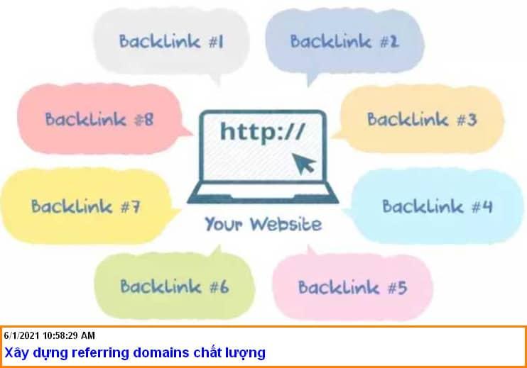 xây dựng referring domains chất lượng