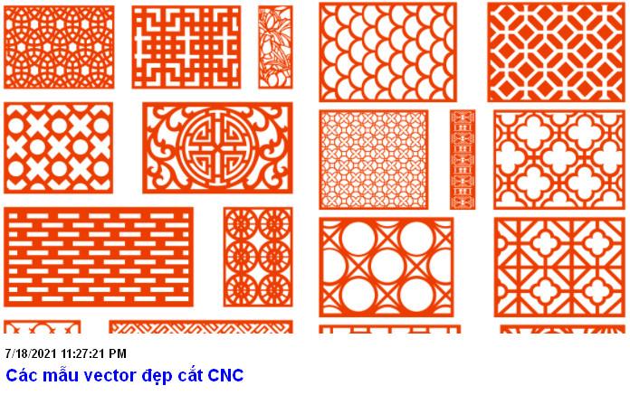 Các mẫu vector đẹp để cắt CNC